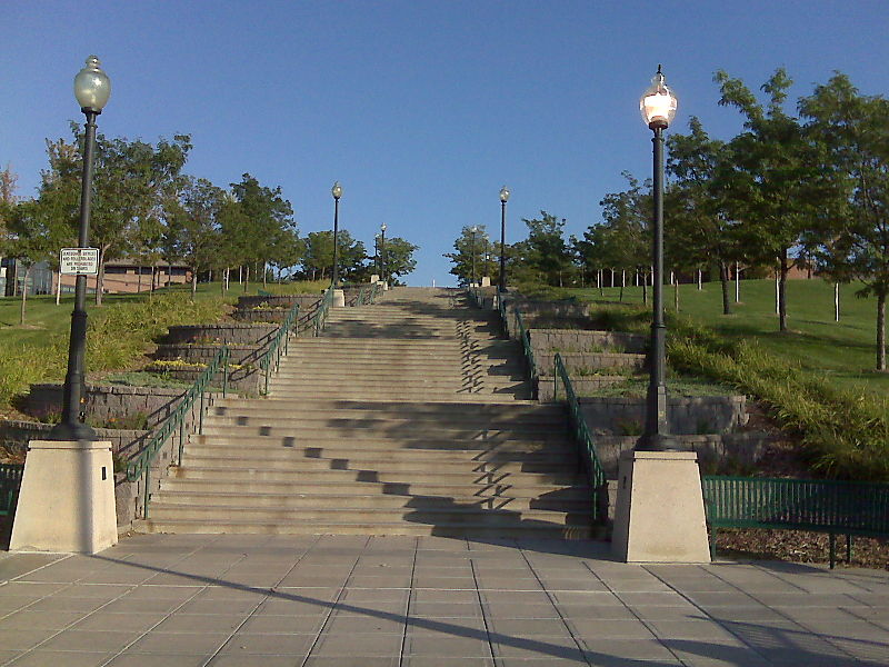 City park stairs